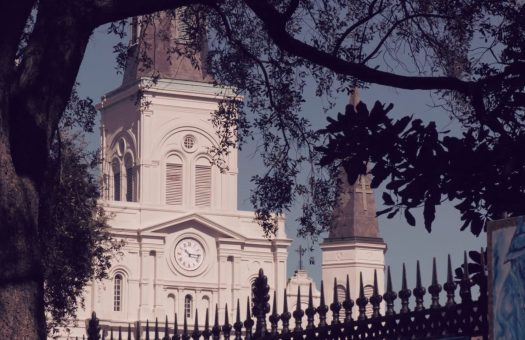 St. Louis Cathedral through the trees
